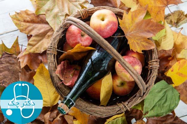 سرکه سیب سرکه برای درمان ترش کردن معده