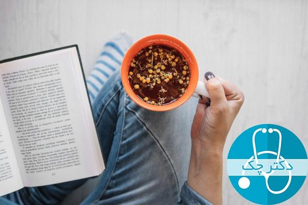 5. چای بابونه برای درمان ترش کردن معده