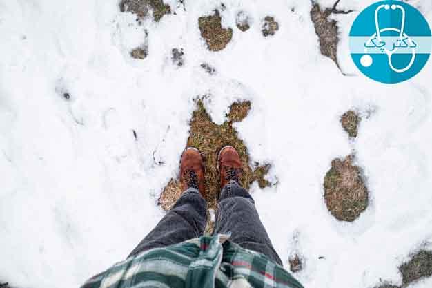 آب و هوای سرد محیط و تاثیر آن در سرد شدن پا