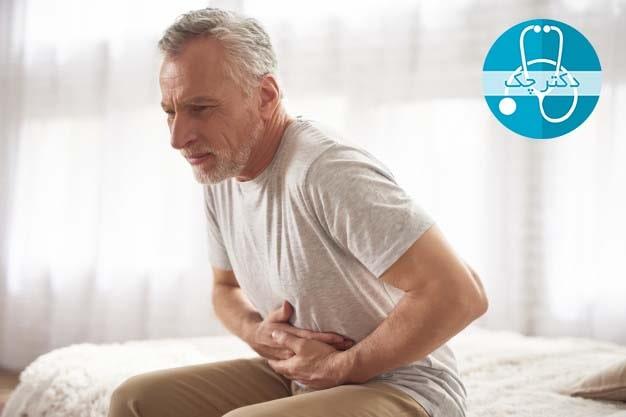 علت درد ناف بعد از غذا خوردن